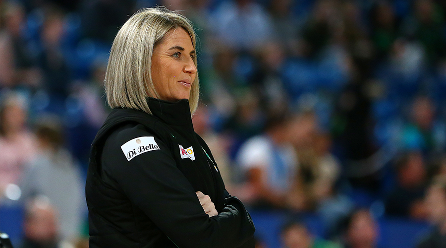 Stacey Marinkovich, Head Coach of the Fever during the Round 10 Super Netball match between the West Coast Fever and the NSW Swifts at RAC Arena in Perth, Saturday, July 28, 2019.